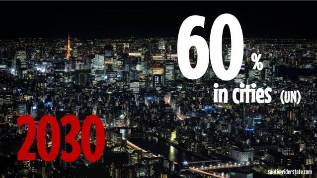60  %  in cities (UN)  2030  santi@riderstate.com