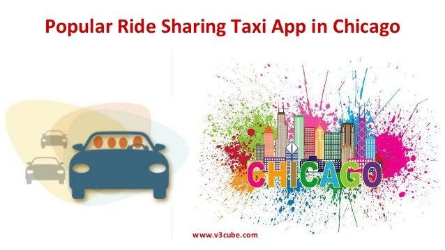Popular Ride Sharing Taxi App in Chicago www.v3cube.com