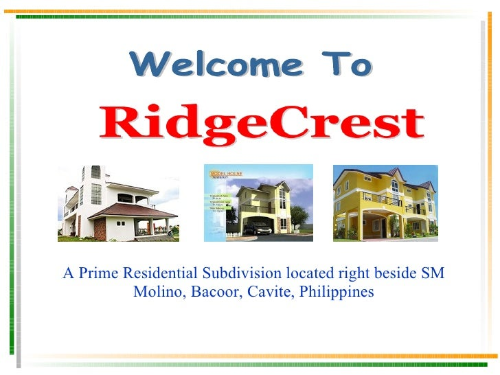 A Prime Residential Subdivision located at Carsadang Bago, Bucandala, Imus, Cavite, Philippines (Very Near Imus Cathedral ...
