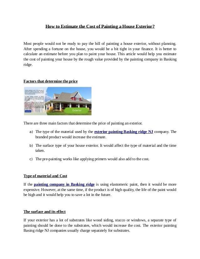 job cost estimator for painting contractors