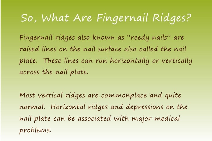 Eliminate Ridges in Fingernails Now!