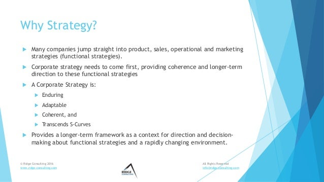 Ridge Consulting Strategy Development Workshop Overview Slide 3