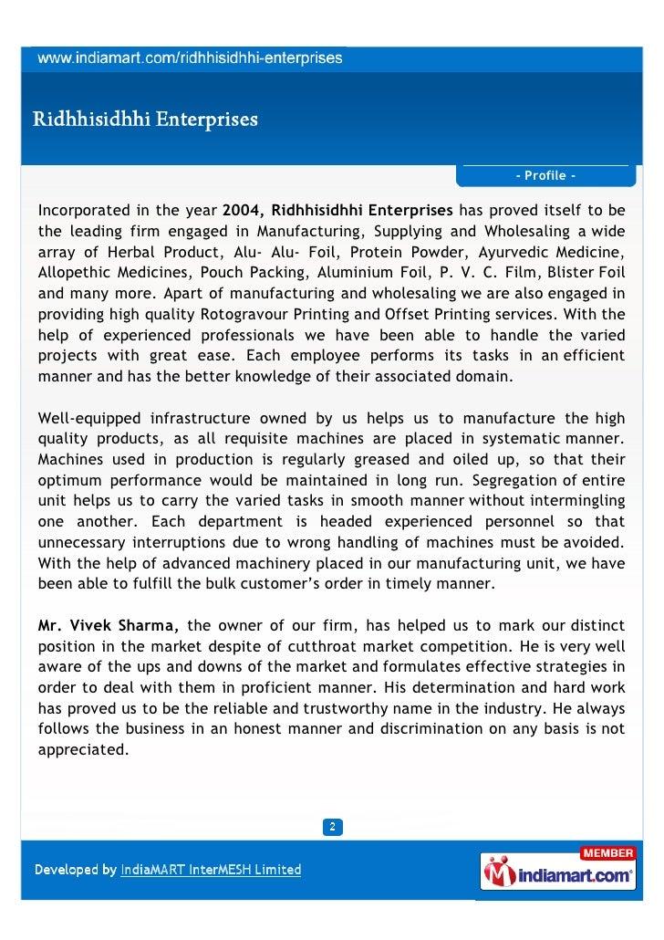 Ridhhisidhhi Enterprises, Jaipur, Packaging Products Slide 2