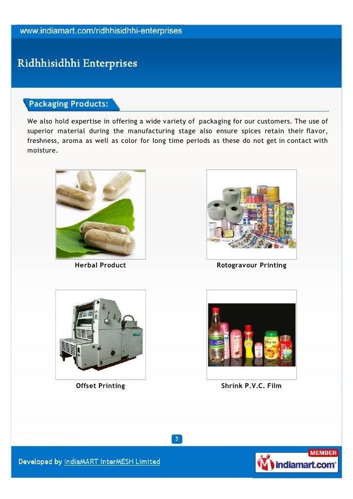 Ridhhisidhhi Enterprises, Jaipur, Packaging Products Slide 3