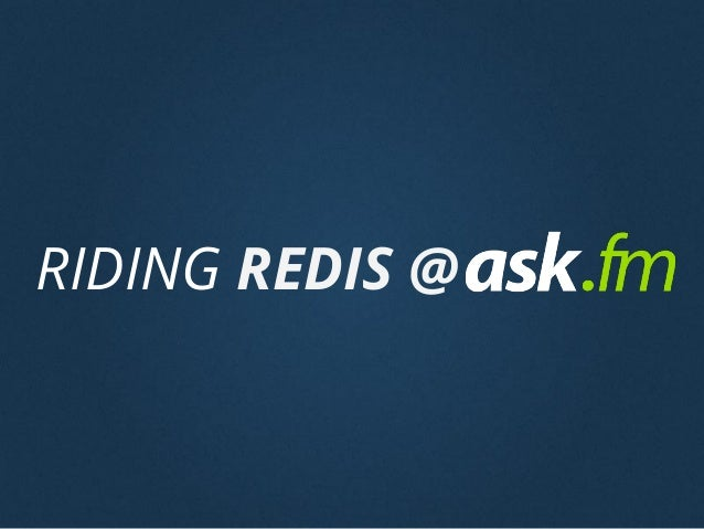 RIDING REDIS @