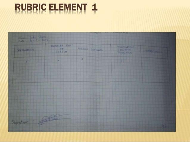 RUBRIC ELEMENT 1