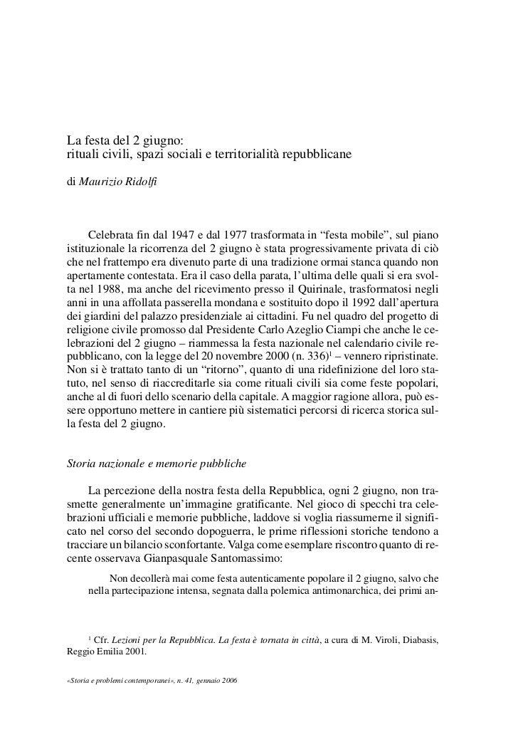 04Ridolfi   8-05-2006       14:07       Pagina 37             La festa del 2 giugno:             rituali civili, spazi soc...