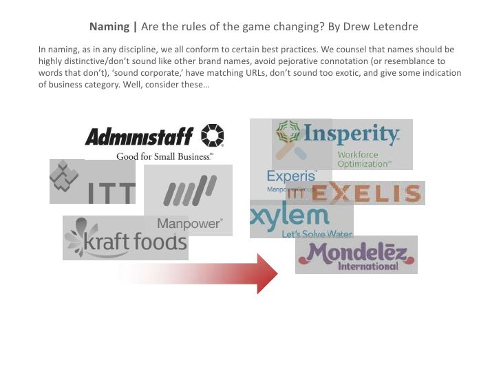Naming | Are the rules of the game changing? By Drew LetendreIn naming, as in any discipline, we all conform to certain be...
