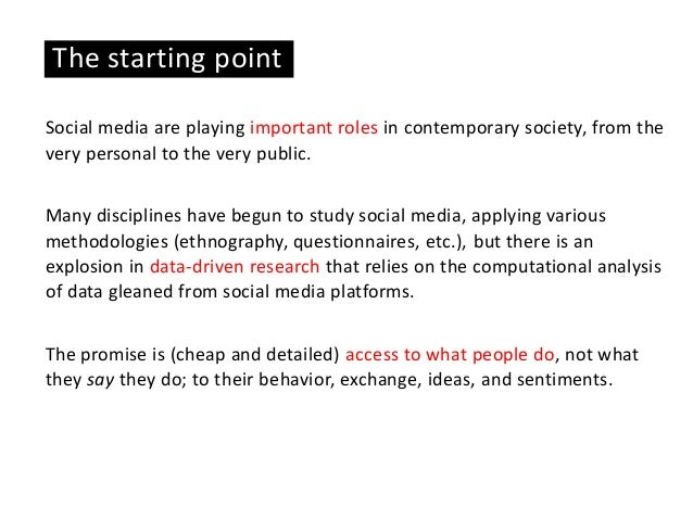 Analyzing Social Media with Digital Methods. Possibilities, Requirements, and Limitations Slide 2