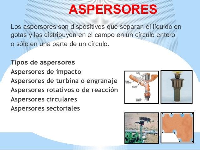 Riego por aspersion tic for Tipos de aspersores