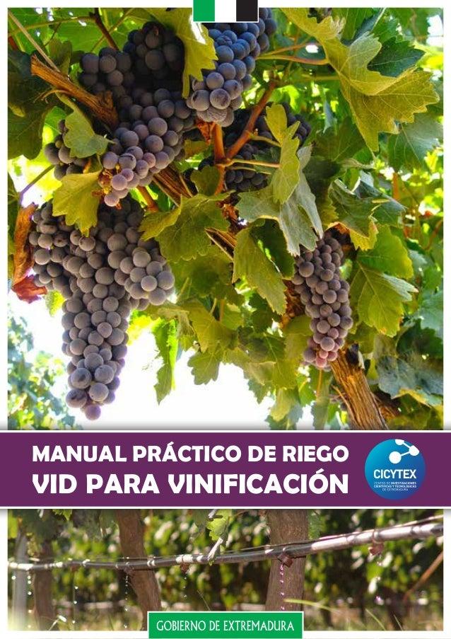 MANUAL PRÁCTICO DE RIEGO VID PARA VINIFICACIÓN