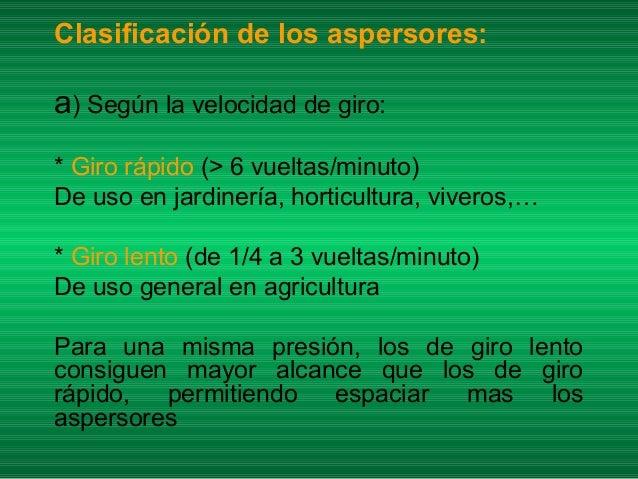 Riego x aspersion for Tipos de aspersores