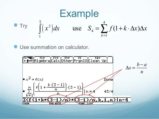 Riemann Sumsdefiniteintegrals