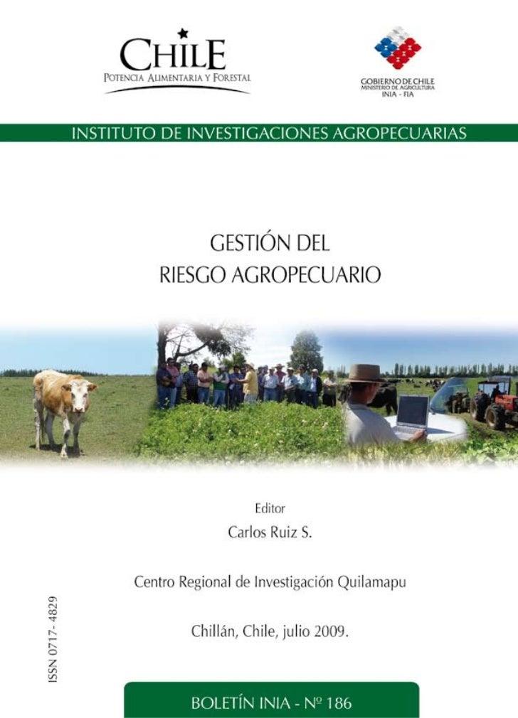 GESTIÓN DEL RIESGO AGROPECUARIO                            1