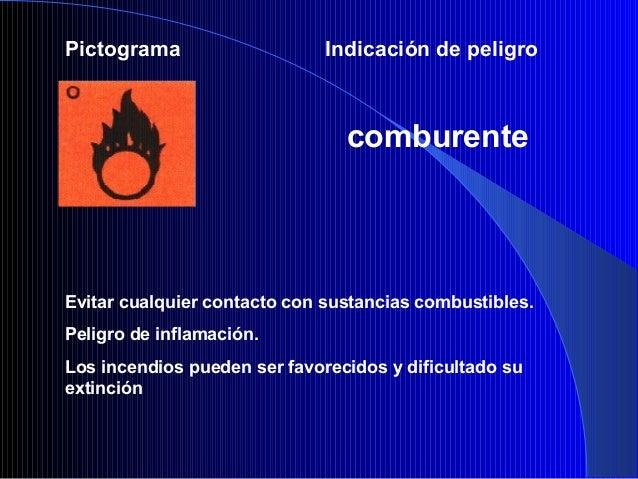 Pictograma Indicación de peligroexplosivoEvitar choque, percusión,fricción, formación de chispas, fuegoy acción del calor.