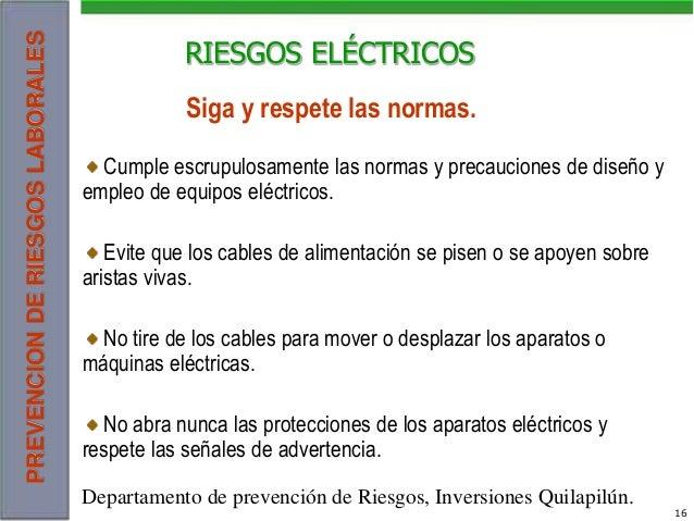 riesgos electricos.-