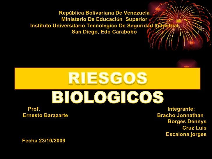 Rep ú blica Bolivariana De Venezuela Ministerio De Educaci ó n  Superior Instituto Universitario Tecnol ó gico De Segurida...