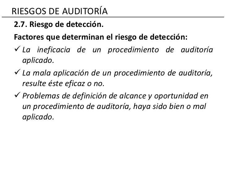 Riesgos de auditoría