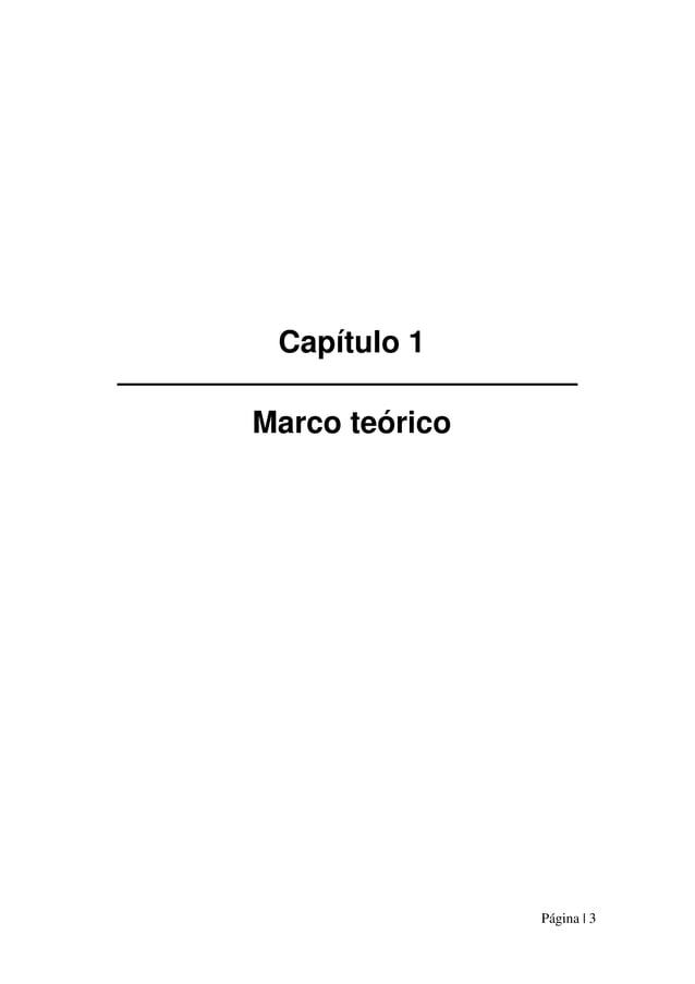 Página | 3 Capítulo 1 Marco teórico