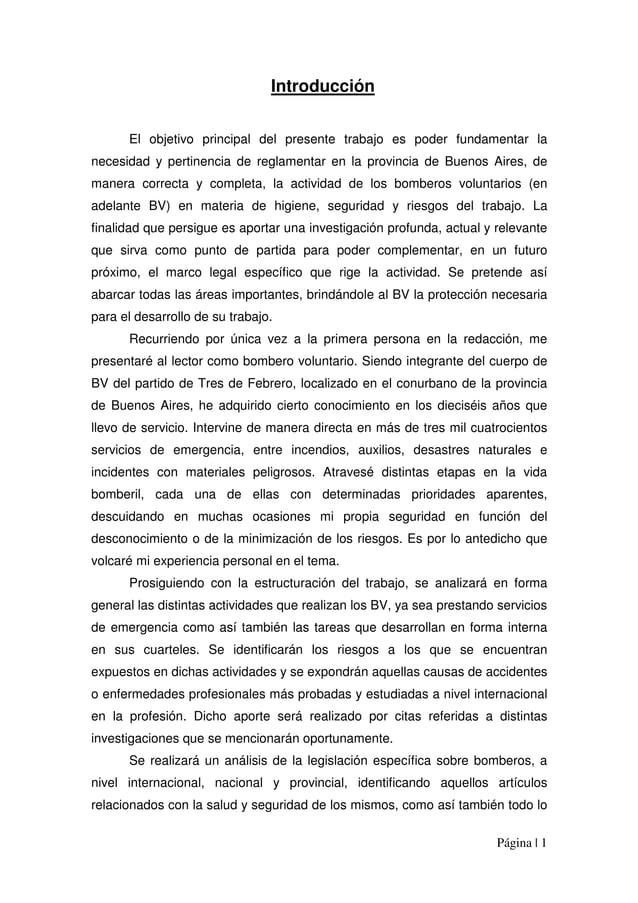 Página | 1 Introducción El objetivo principal del presente trabajo es poder fundamentar la necesidad y pertinencia de regl...