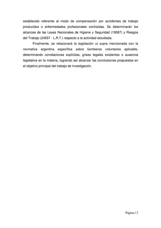 Página | 2 establecido referente al modo de compensación por accidentes de trabajo producidos o enfermedades profesionales...