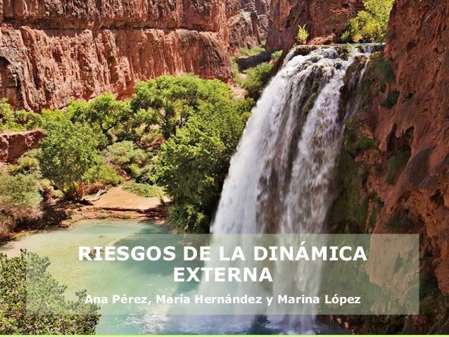 RIESGOS DE LA DINÁMICAEXTERNAAna Pérez, María Hernández y Marina López