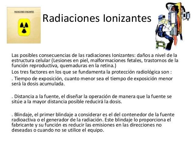 Radiaciones Ionizantes Las posibles consecuencias de las radiaciones Ionizantes: daños a nivel de la estructura celular (L...