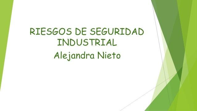 RIESGOS DE SEGURIDAD  INDUSTRIAL  Alejandra Nieto