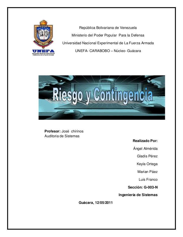 -136525-241935República Bolivariana de Venezuela<br />Ministerio del Poder Popular  Para la Defensa<br />Universidad Nacio...
