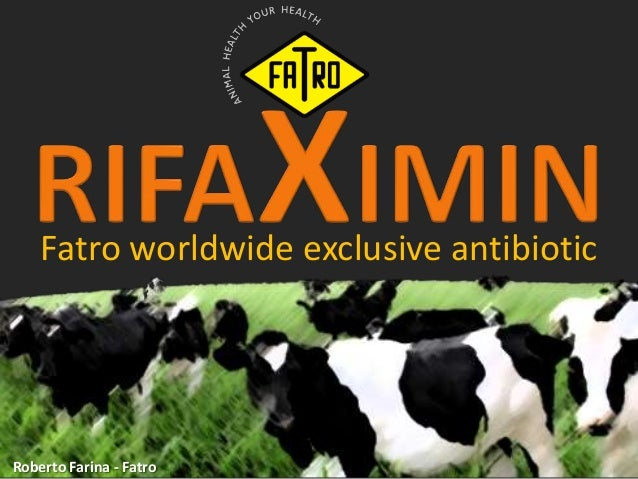 Fatro worldwide exclusive antibiotic Roberto Farina - Fatro