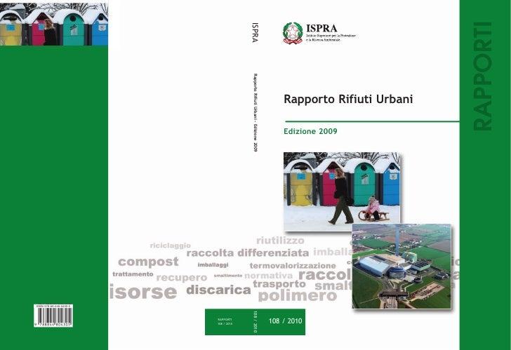 Rifiuti urbani - Rapporto 2009 ISPRA