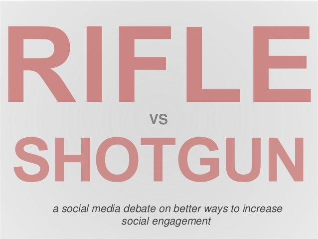VS  a social media debate on better ways to increase  social engagement