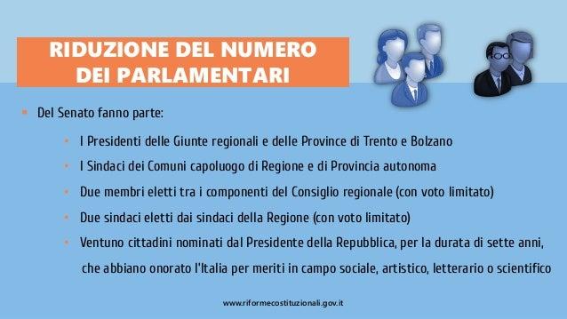 Riforma del senato e del titolo v costituzione slide for Numero parlamentari italia