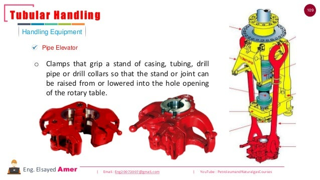 109 | Email : Eng20072007@gmail.com | YouTube : PetroleumandNaturalgasCoursesEng. Elsayed Amer o Clamps that grip a stand ...