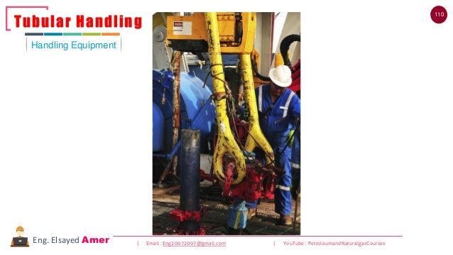 110 | Email : Eng20072007@gmail.com | YouTube : PetroleumandNaturalgasCoursesEng. Elsayed Amer Handling Equipment Tubular ...
