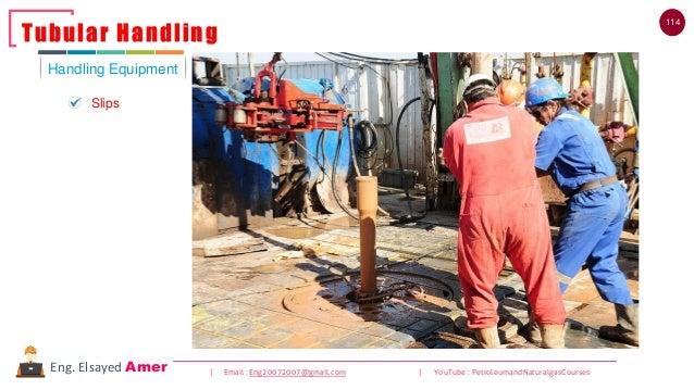 114 | Email : Eng20072007@gmail.com | YouTube : PetroleumandNaturalgasCoursesEng. Elsayed Amer Handling Equipment Tubular ...
