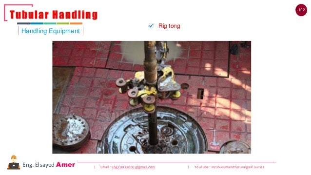 122 | Email : Eng20072007@gmail.com | YouTube : PetroleumandNaturalgasCoursesEng. Elsayed Amer Handling Equipment Tubular ...