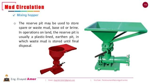 153 | Email : Eng20072007@gmail.com | YouTube : PetroleumandNaturalgasCoursesEng. Elsayed Amer Mud Circulation Mixing hopp...