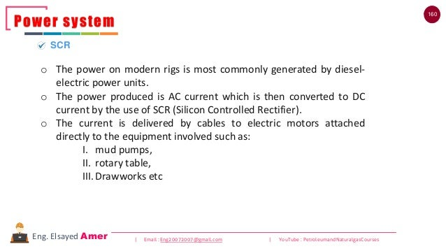 160 | Email : Eng20072007@gmail.com | YouTube : PetroleumandNaturalgasCoursesEng. Elsayed Amer Power system SCR o The powe...