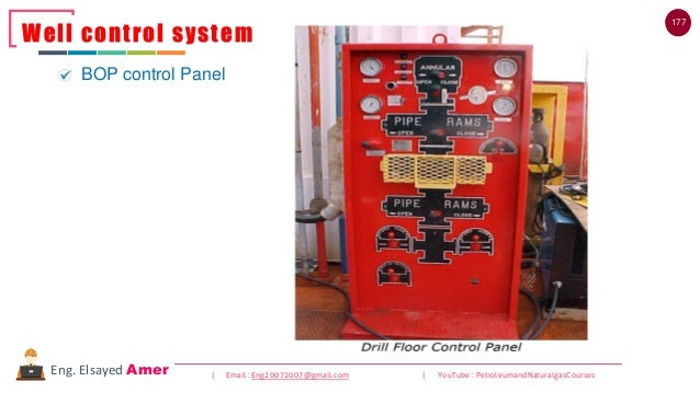 177 | Email : Eng20072007@gmail.com | YouTube : PetroleumandNaturalgasCoursesEng. Elsayed Amer Well control system BOP con...