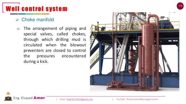 178 | Email : Eng20072007@gmail.com | YouTube : PetroleumandNaturalgasCoursesEng. Elsayed Amer Well control system Choke m...