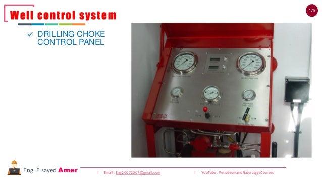 179 | Email : Eng20072007@gmail.com | YouTube : PetroleumandNaturalgasCoursesEng. Elsayed Amer Well control system DRILLIN...