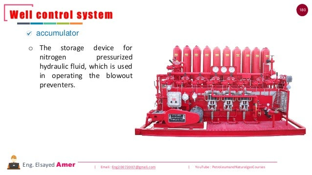 180 | Email : Eng20072007@gmail.com | YouTube : PetroleumandNaturalgasCoursesEng. Elsayed Amer Well control system accumul...