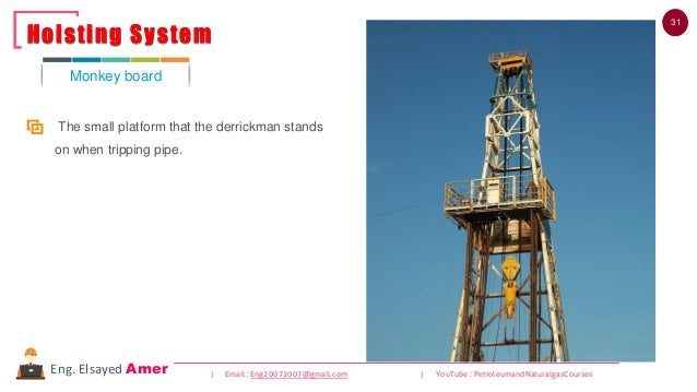 31 | Email : Eng20072007@gmail.com | YouTube : PetroleumandNaturalgasCoursesEng. Elsayed Amer The small platform that the ...
