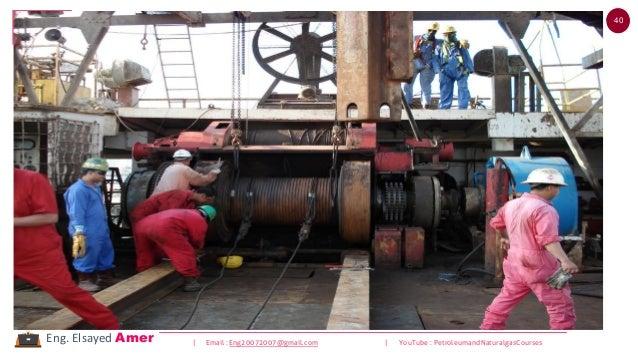 40 | Email : Eng20072007@gmail.com | YouTube : PetroleumandNaturalgasCoursesEng. Elsayed Amer Draw Work Hoisting SystemHoi...