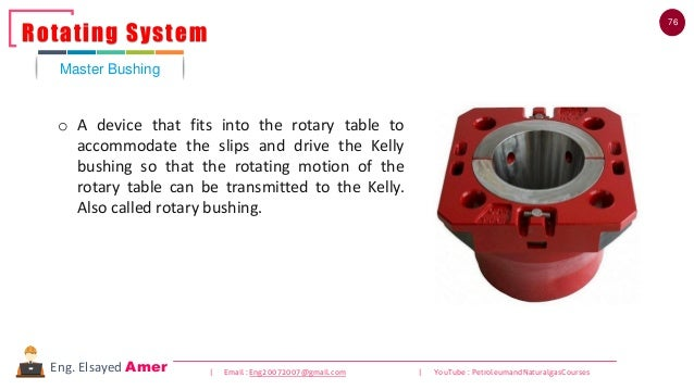 76 | Email : Eng20072007@gmail.com | YouTube : PetroleumandNaturalgasCoursesEng. Elsayed Amer o A device that fits into th...
