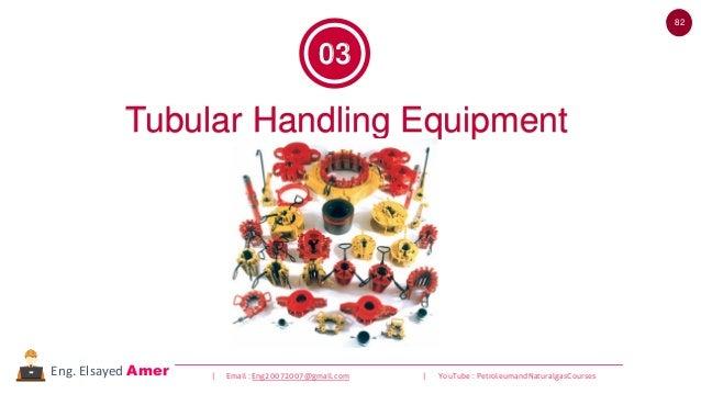 82 | Email : Eng20072007@gmail.com | YouTube : PetroleumandNaturalgasCoursesEng. Elsayed Amer Tubular Handling Equipment 03