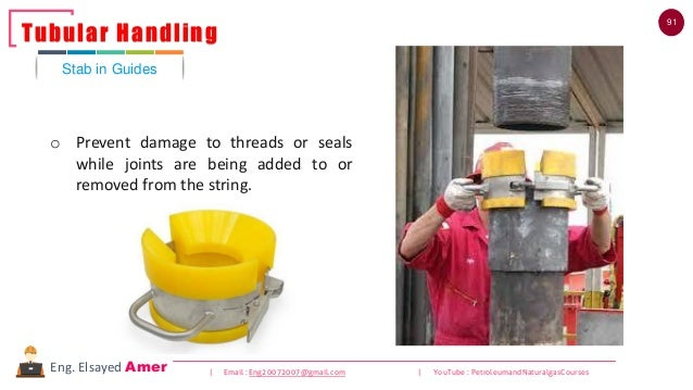 91 | Email : Eng20072007@gmail.com | YouTube : PetroleumandNaturalgasCoursesEng. Elsayed Amer Stab in Guides Tubular Handl...
