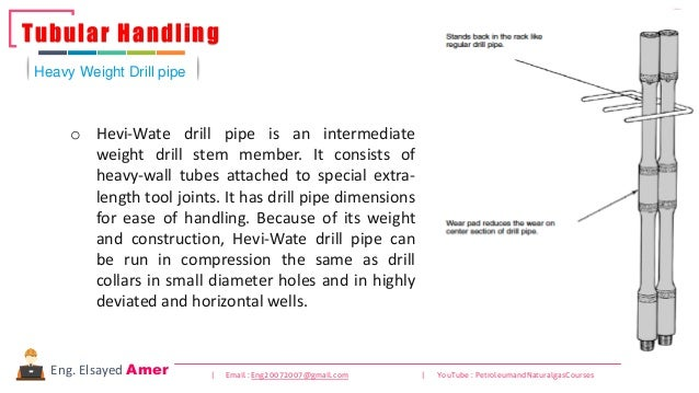92 | Email : Eng20072007@gmail.com | YouTube : PetroleumandNaturalgasCoursesEng. Elsayed Amer o Hevi-Wate drill pipe is an...