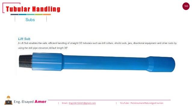 100 | Email : Eng20072007@gmail.com | YouTube : PetroleumandNaturalgasCoursesEng. Elsayed Amer Subs Tubular Handling
